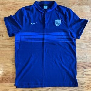Nike Team USA US Soccer Polo Size XL